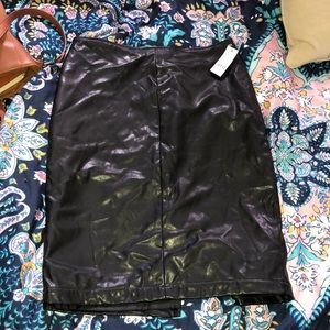 Leather New York and company pencil skirt